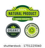 vector abstract natural labels... | Shutterstock .eps vector #1751225060