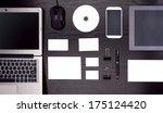 mockup business template | Shutterstock . vector #175124420