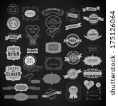 set of vintage retro labels | Shutterstock .eps vector #175126064
