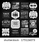 retro coffee  labels and... | Shutterstock .eps vector #175126073