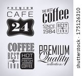 coffee   cafe label   vector... | Shutterstock .eps vector #175126310