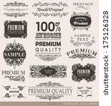 calligraphic design elements... | Shutterstock .eps vector #175126328