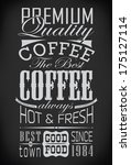 set of coffee labels on... | Shutterstock .eps vector #175127114
