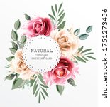 holiday vintage greeting card... | Shutterstock .eps vector #1751273456
