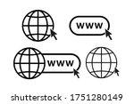 online internet icon website...   Shutterstock .eps vector #1751280149