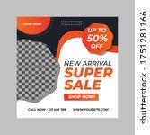 sale social media post design... | Shutterstock .eps vector #1751281166