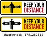 social distancing banner. keep...   Shutterstock .eps vector #1751282516