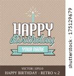 Happy Birthday Retro Card...