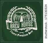 retro styled label of beer or... | Shutterstock .eps vector #175130324