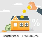 invest in real estate house...   Shutterstock .eps vector #1751303393