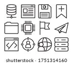diskette and ui or ux icon set...