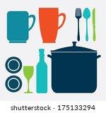 menu design over  white... | Shutterstock .eps vector #175133294