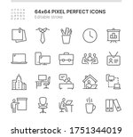 simple set of icons related to... | Shutterstock .eps vector #1751344019