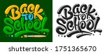 back to school letters design... | Shutterstock .eps vector #1751365670