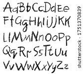 handwritten vector pensil... | Shutterstock .eps vector #1751370839