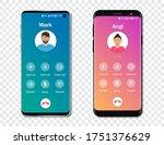 smartphone call app interface...