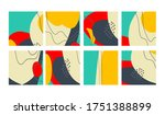 set of fun hand drawn colorful...   Shutterstock .eps vector #1751388899