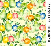 Vintage Seamless Pattern With...