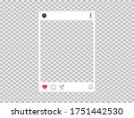 photo frame in social style....   Shutterstock .eps vector #1751442530