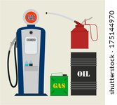 vector gas station objects | Shutterstock .eps vector #175144970