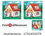 find 5 differences education... | Shutterstock .eps vector #1751453279