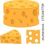 cheese. vector illustration of... | Shutterstock .eps vector #1751467739