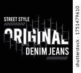 vector denim jeans original ... | Shutterstock .eps vector #1751479610