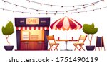 Outdoor Cafe  Summer Booth In...