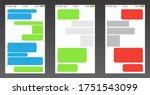 set of messenger ui  user...