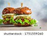 Vegan Falafel Burger With...