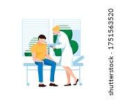 doctor injecting flu shot... | Shutterstock .eps vector #1751563520