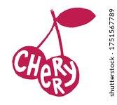 fresh cherry fruit for emblem ...   Shutterstock .eps vector #1751567789