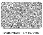 outline floral pattern in...   Shutterstock .eps vector #1751577989