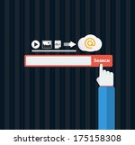search bar browser in flat... | Shutterstock .eps vector #175158308