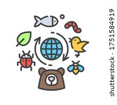 Biodiversity Color Line Icon....