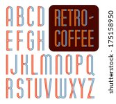 decorative vector font.... | Shutterstock .eps vector #175158950