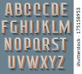 vintage decorative vector font. ...   Shutterstock .eps vector #175158953
