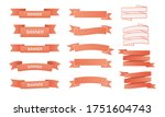 ribbons set with pink color on... | Shutterstock .eps vector #1751604743