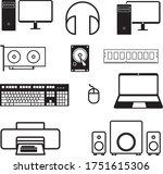 computer component black icon...