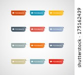 colorful feedback icons... | Shutterstock . vector #175162439