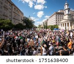 Small photo of Washington D.C./USA- June 7th 2020: Black Lives Matter protesters gathered down 16thSt NW and Black Lives Matter Plaza.