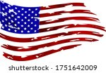 watercolor flag of america. usa ... | Shutterstock .eps vector #1751642009