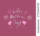 happy mother's day. happiness....   Shutterstock .eps vector #1751644733
