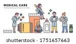 giant medicine bottles and... | Shutterstock .eps vector #1751657663