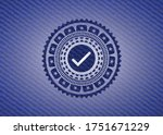 tick icon inside emblem with... | Shutterstock .eps vector #1751671229