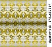 Gold Print. Golden Dyed Stripe...