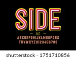 modern style font  alphabet... | Shutterstock .eps vector #1751710856