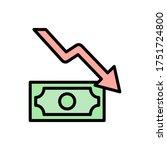 money arrow chart icon. simple...