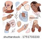 Nails And Manicure Set. Female...