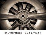 Sepia Toned Vintage Aircraft...